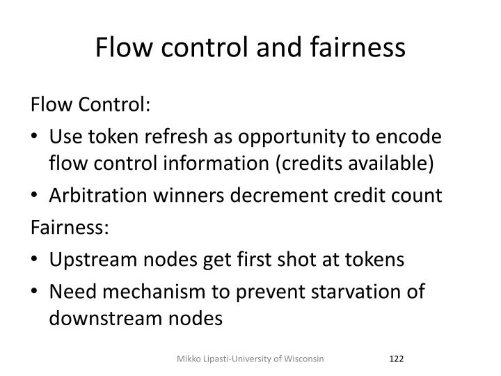 Flow control and fairness