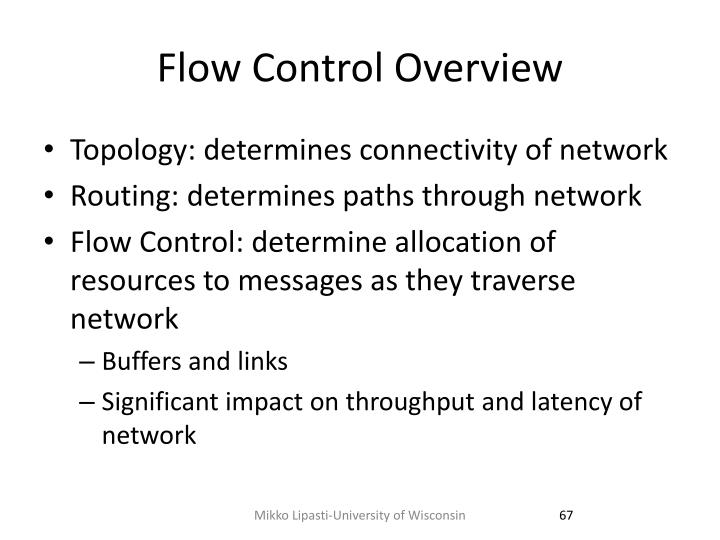 Flow Control Overview