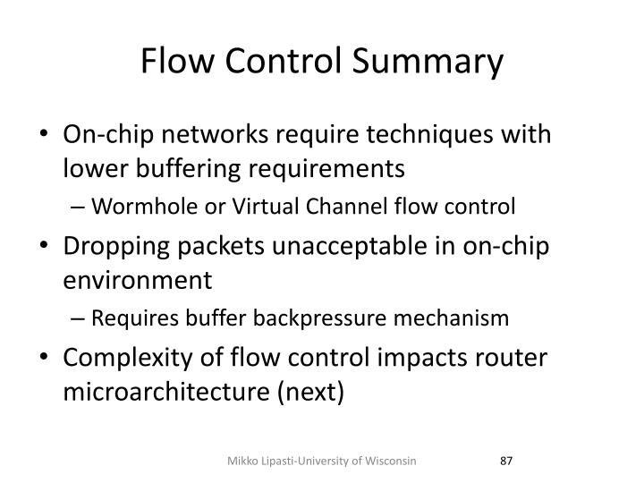 Flow Control Summary