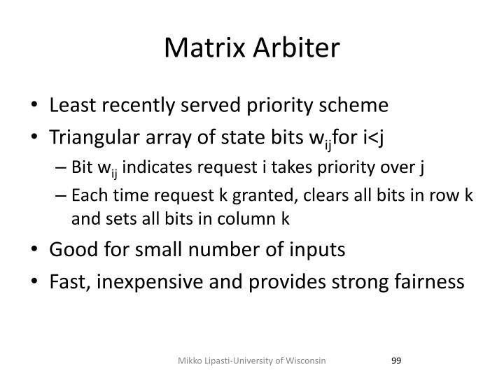 Matrix Arbiter