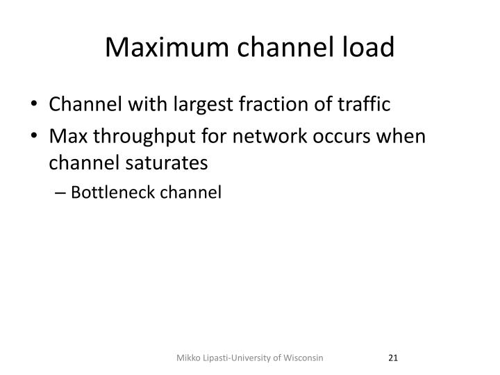 Maximum channel load