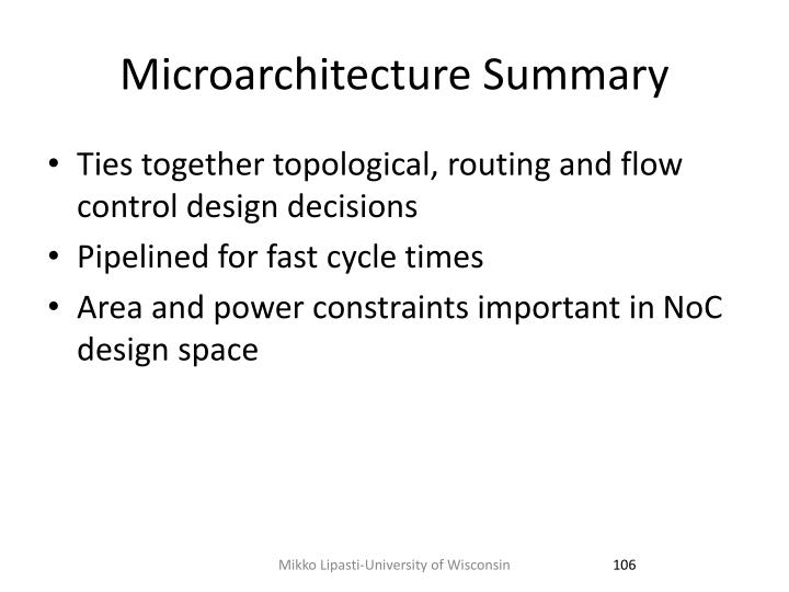 Microarchitecture