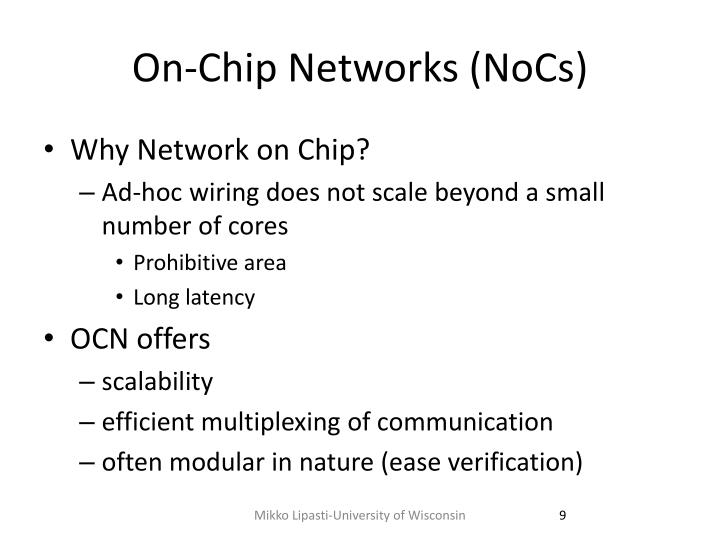 On-Chip Networks (
