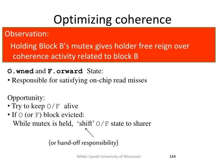 Optimizing coherence