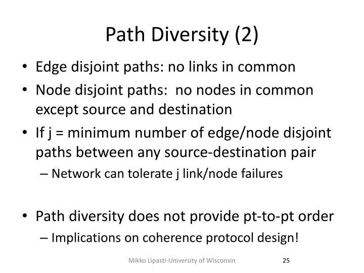 Path Diversity (2)