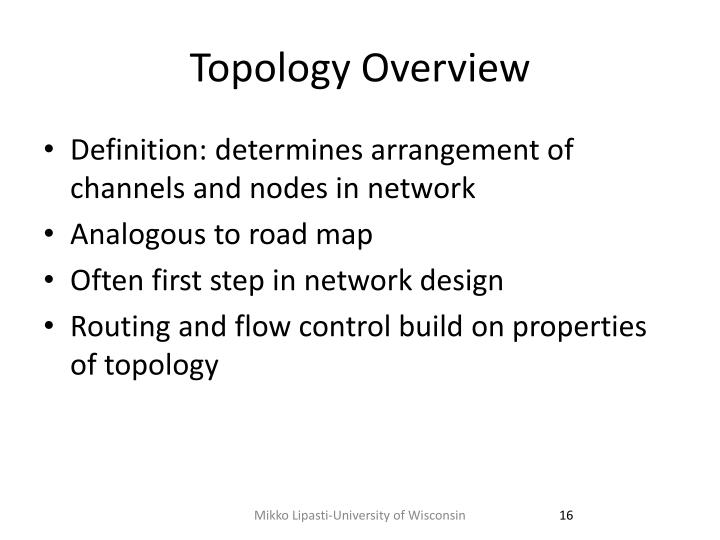 Topology Overview