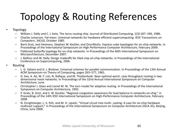 Topology & Routing References