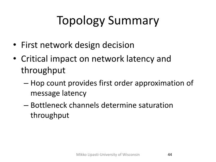 Topology Summary