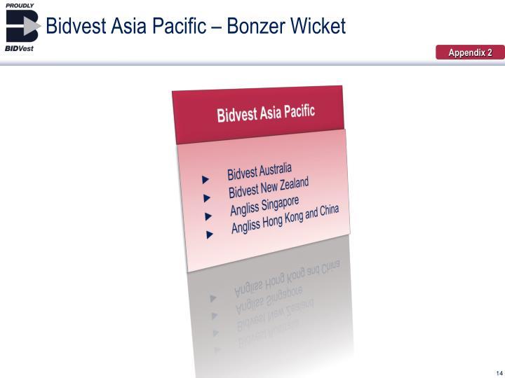 Bidvest Asia Pacific – Bonzer Wicket