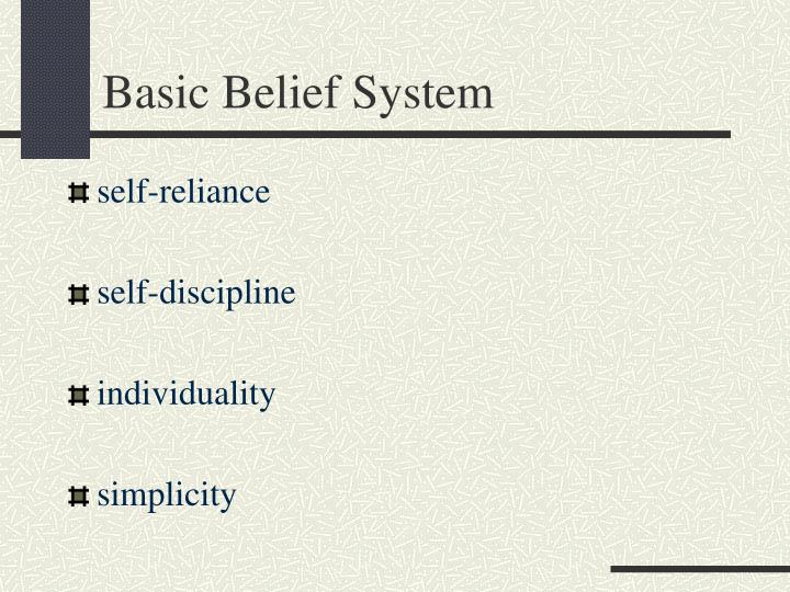 Basic Belief System