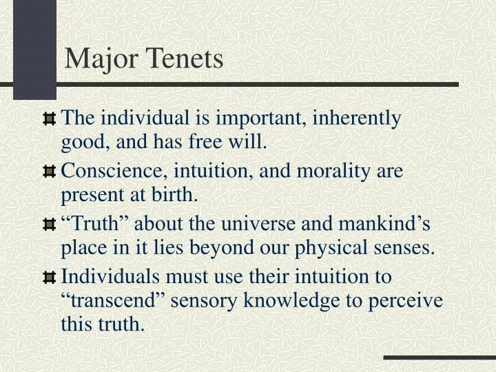 Major Tenets