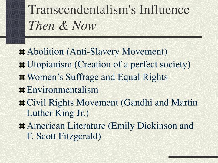 Transcendentalism's Influence