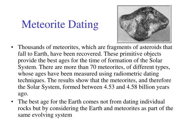 Meteorite Dating