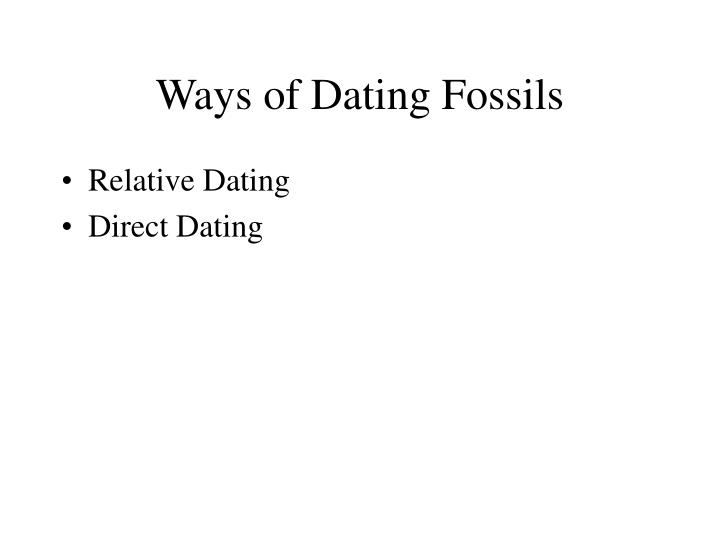 Ways of Dating Fossils