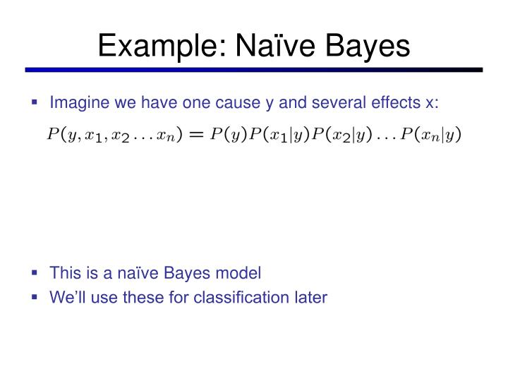 Example: Naïve Bayes