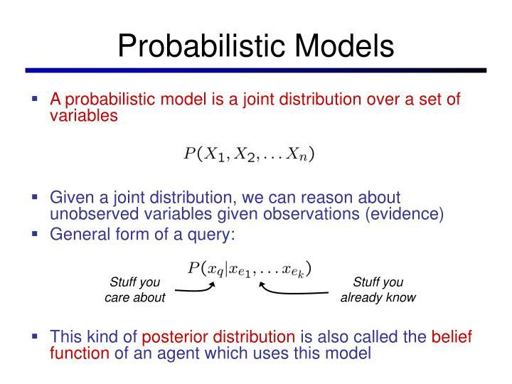 Probabilistic Models