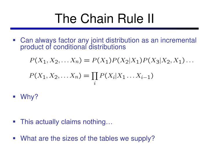 The Chain Rule II