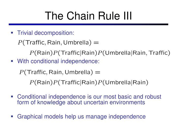 The Chain Rule III