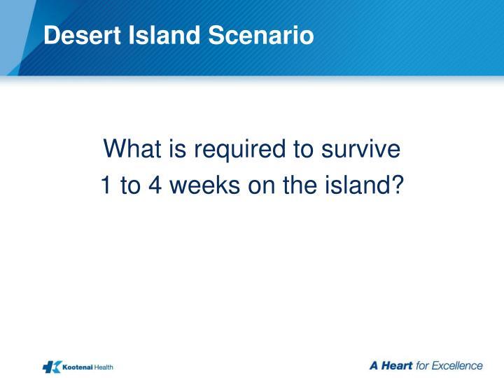 Desert Island Scenario