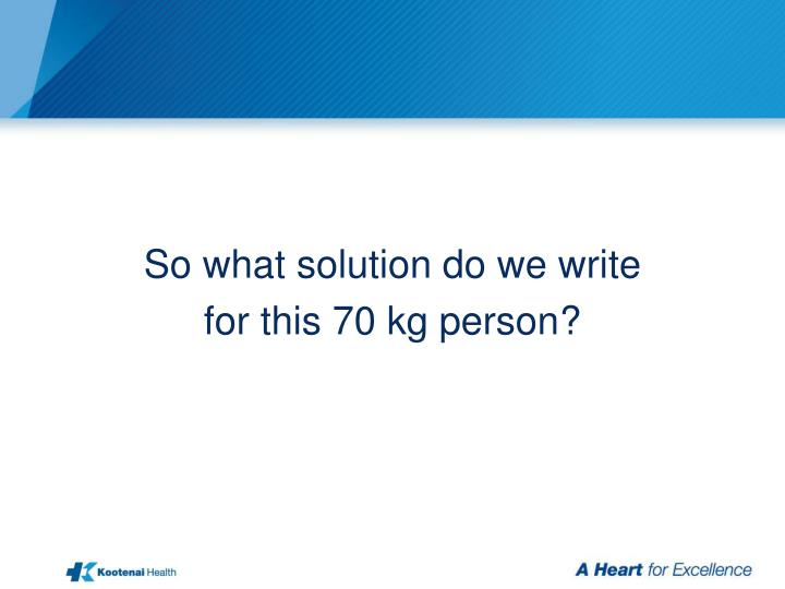 So what solution do we write