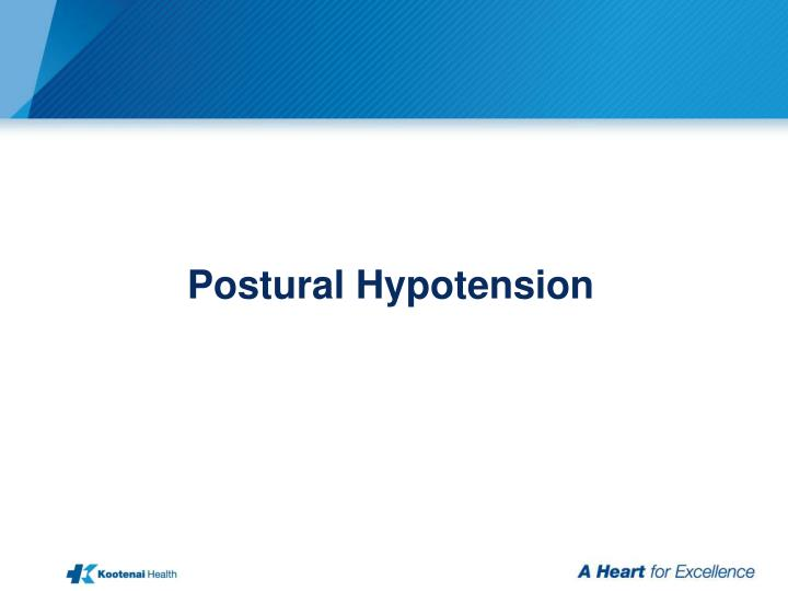 Postural Hypotension