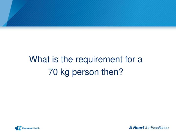 What is the requirement for a