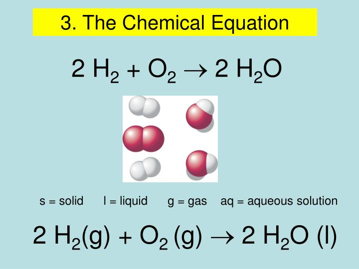 3. The Chemical Equation