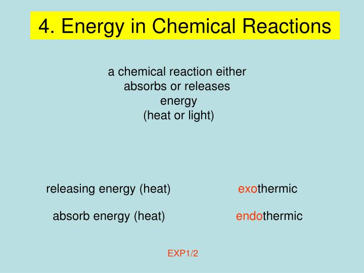 4. Energy in Chemical Reactions