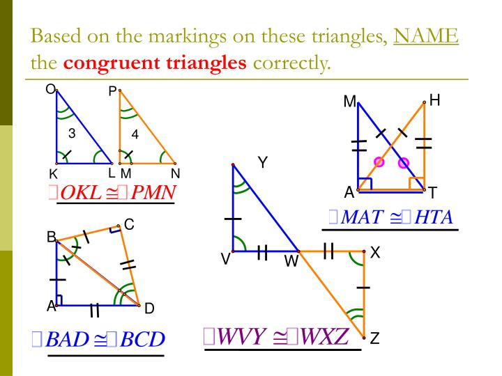 Based on the markings on these triangles,