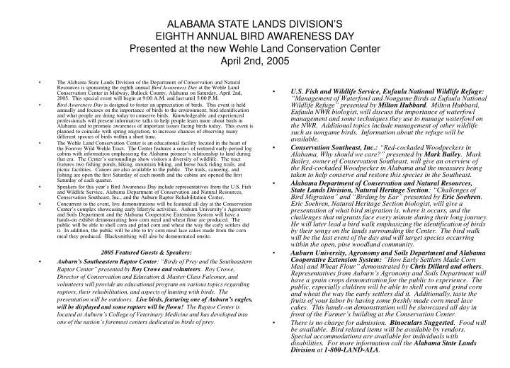 ALABAMA STATE LANDS DIVISION'S