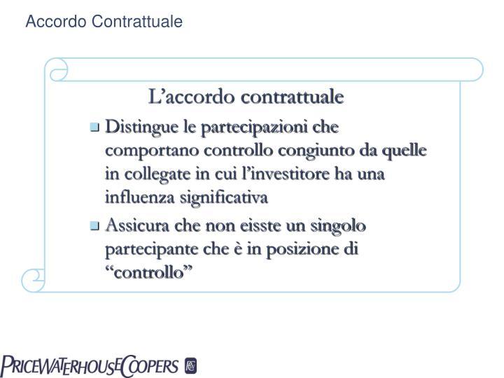 Accordo Contrattuale