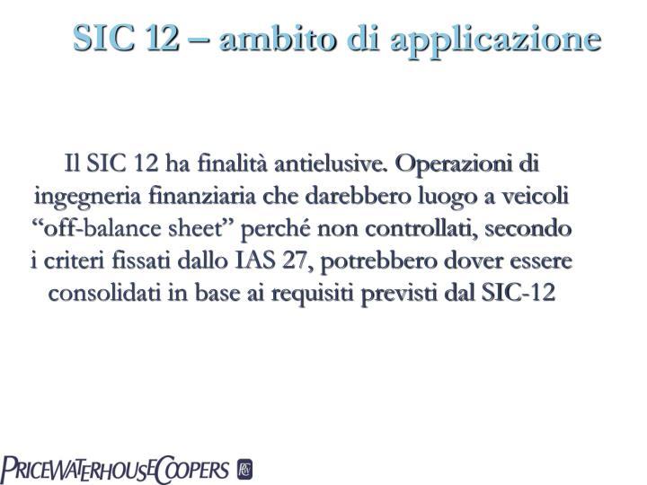 SIC 12 –