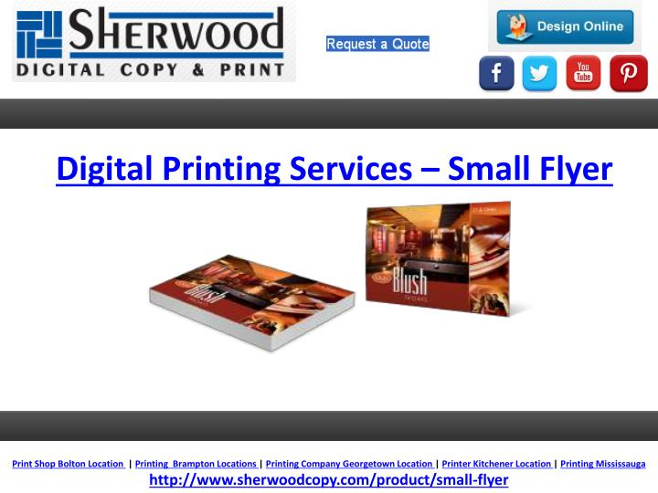 Digital Printing Services – Small Flyer