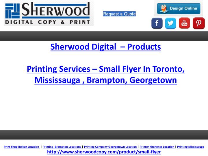 Sherwood Digital  – Products