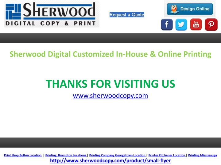 Sherwood Digital Customized In-House & Online Printing