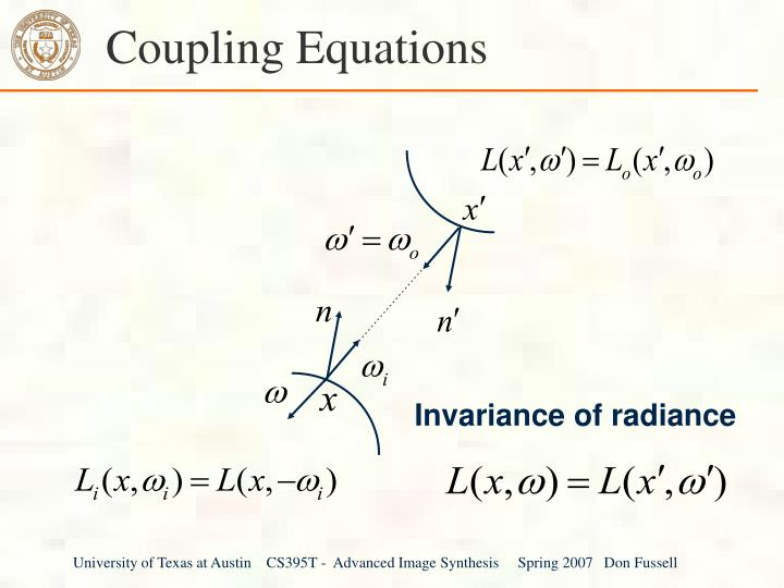 Coupling Equations