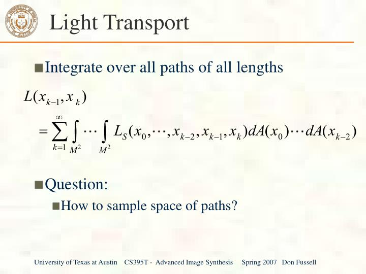 Light Transport