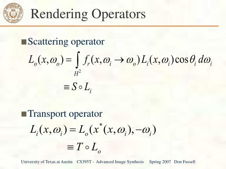 Rendering Operators