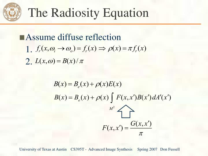 The Radiosity Equation