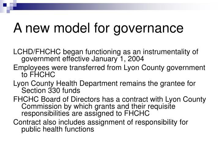 A new model for governance