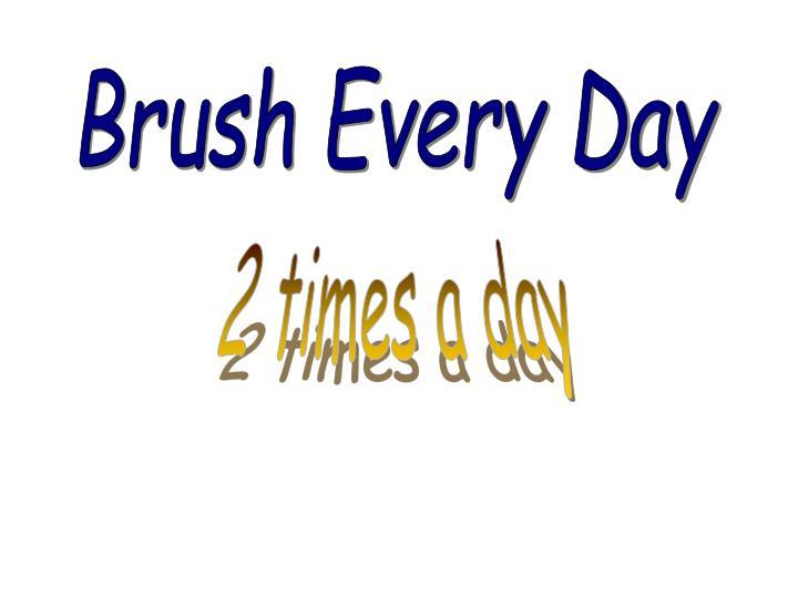 Brush Every Day