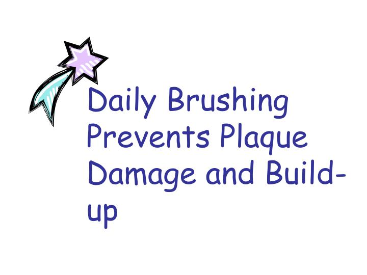 Daily Brushing Prevents Plaque Damage and Build-up