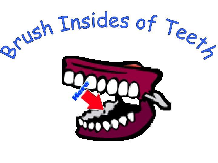 Brush Insides of Teeth