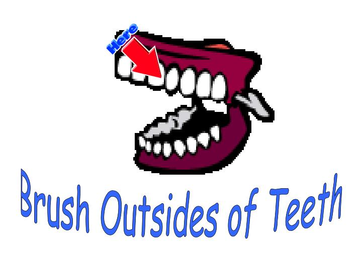 Brush Outsides of Teeth