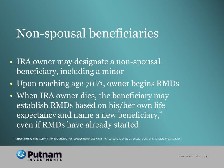 Non-spousal beneficiaries