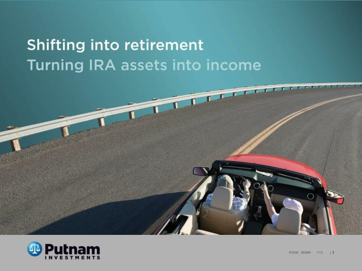 Shifting into retirement turning ira assets into income