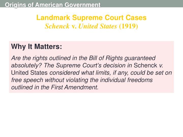 Landmark Supreme Court Cases