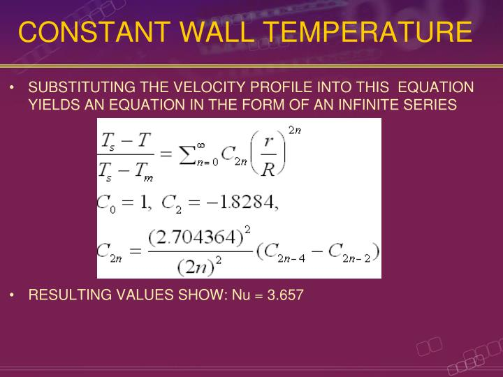 CONSTANT WALL TEMPERATURE