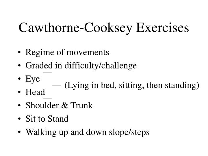 Cawthorne-Cooksey Exercises