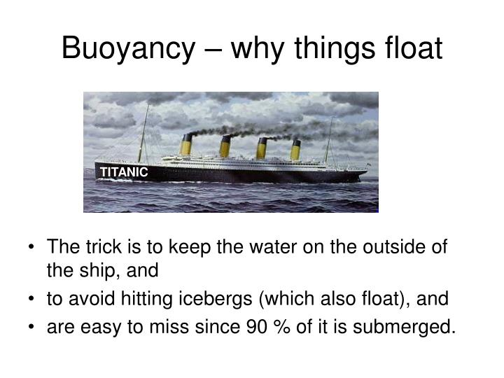 Buoyancy why things float